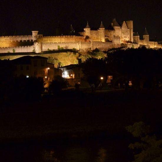 Carcassonne qalası gecə